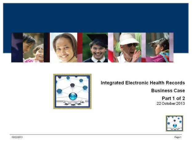 Integrated Electronic Health Records - iEHR Business Case - Part 2