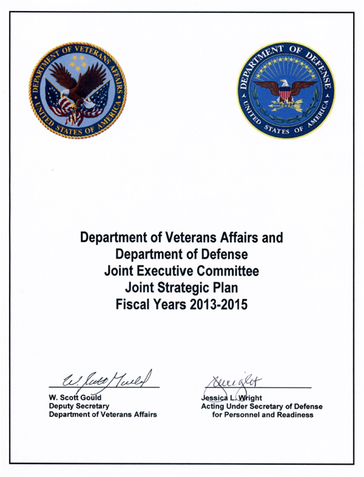 DOD/VA Joint Strategic Plan 2013 - 2015